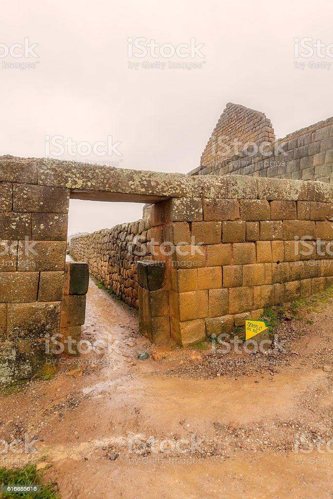 Ingapirca, Inca City, Canar Province stock photo