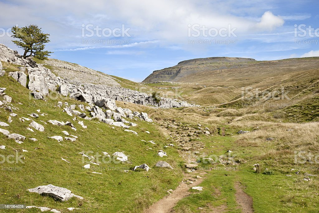 Ingleborough in the Yorkshire Dales royalty-free stock photo