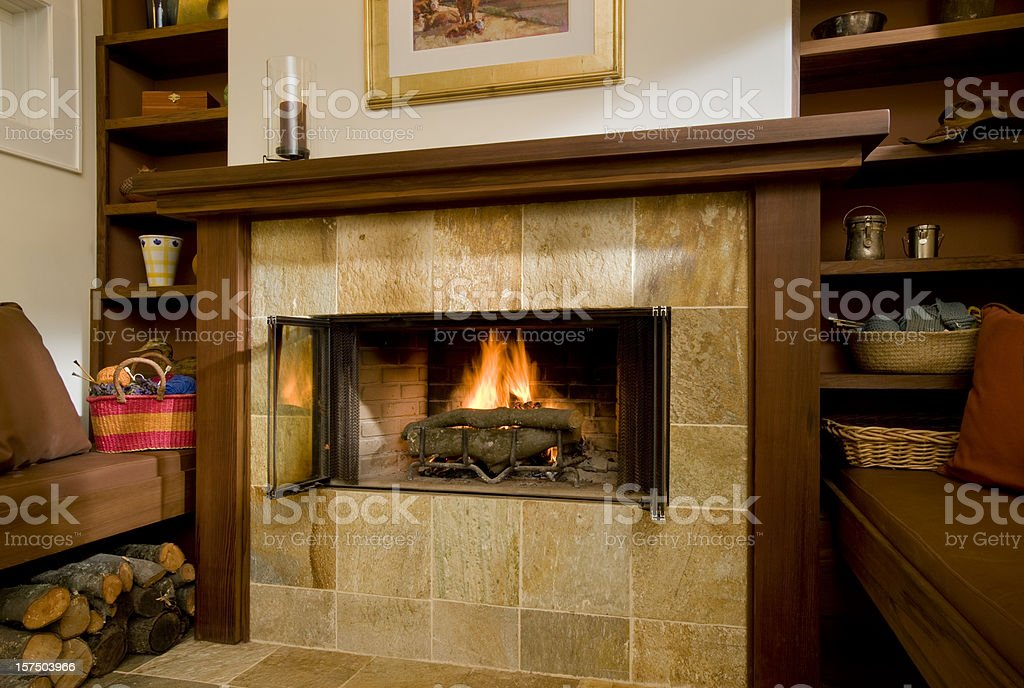 Inglenook and Fireplace royalty-free stock photo