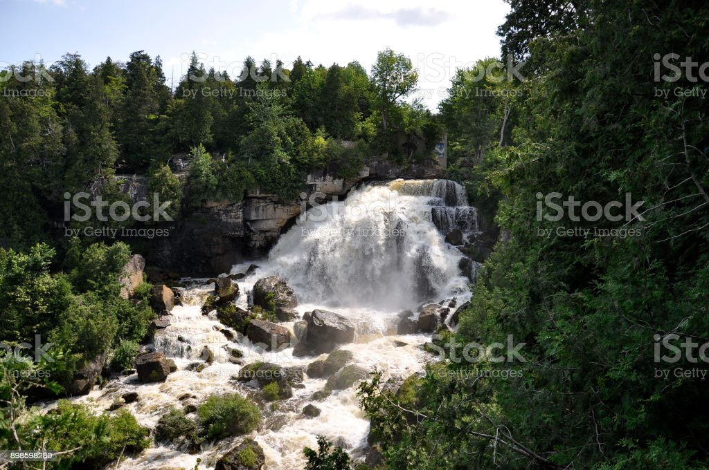 Inglis Waterfalls near Owen Sound, Ontario stock photo