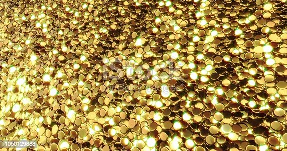 186835568istockphoto Ingots of pure gold. Golden background. Gold leaf texture. 1050129888