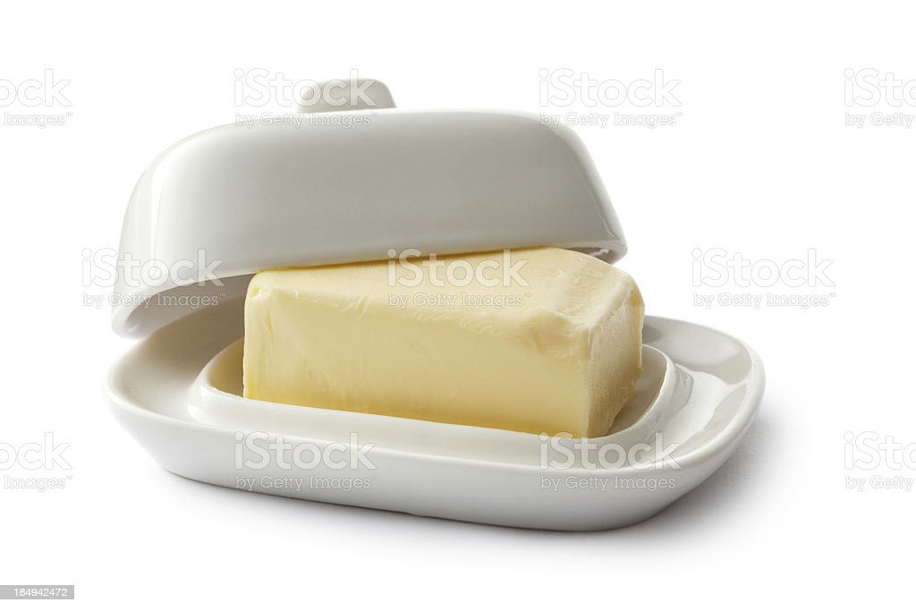 Ingredients: Butter royalty-free stock photo