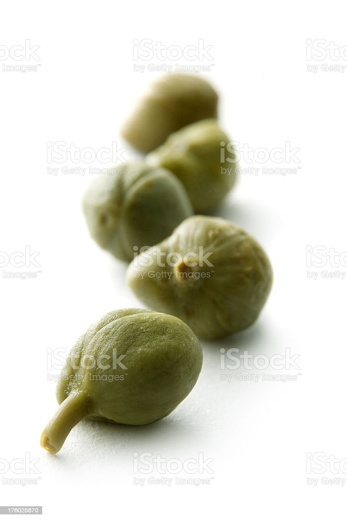 Ingredients: Capers stock photo