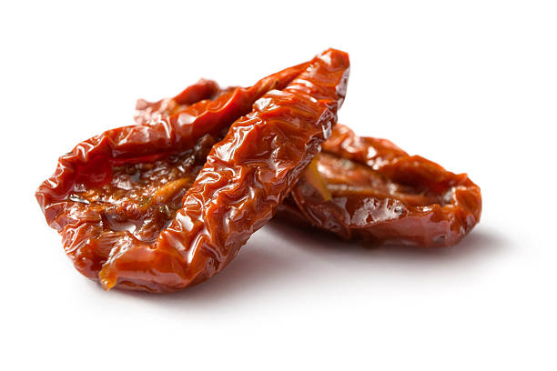 Ingredients: Dried Tomato stock photo
