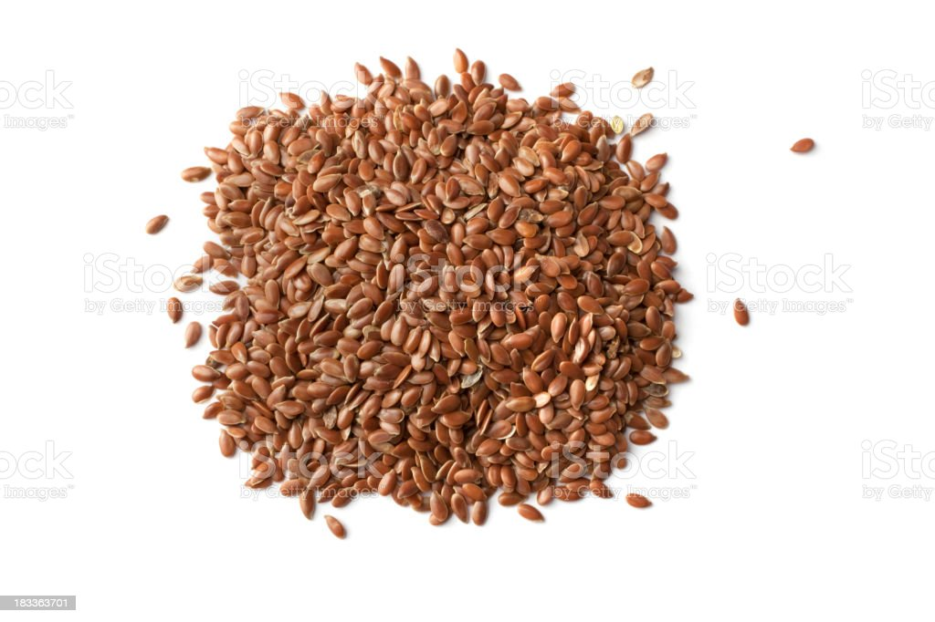 Ingredients: Flax Seeds royalty-free stock photo