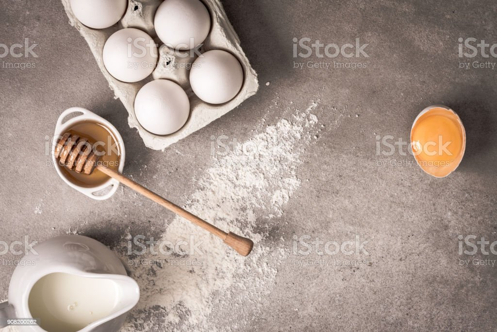 Ingredients foods for baking easter specials. stock photo