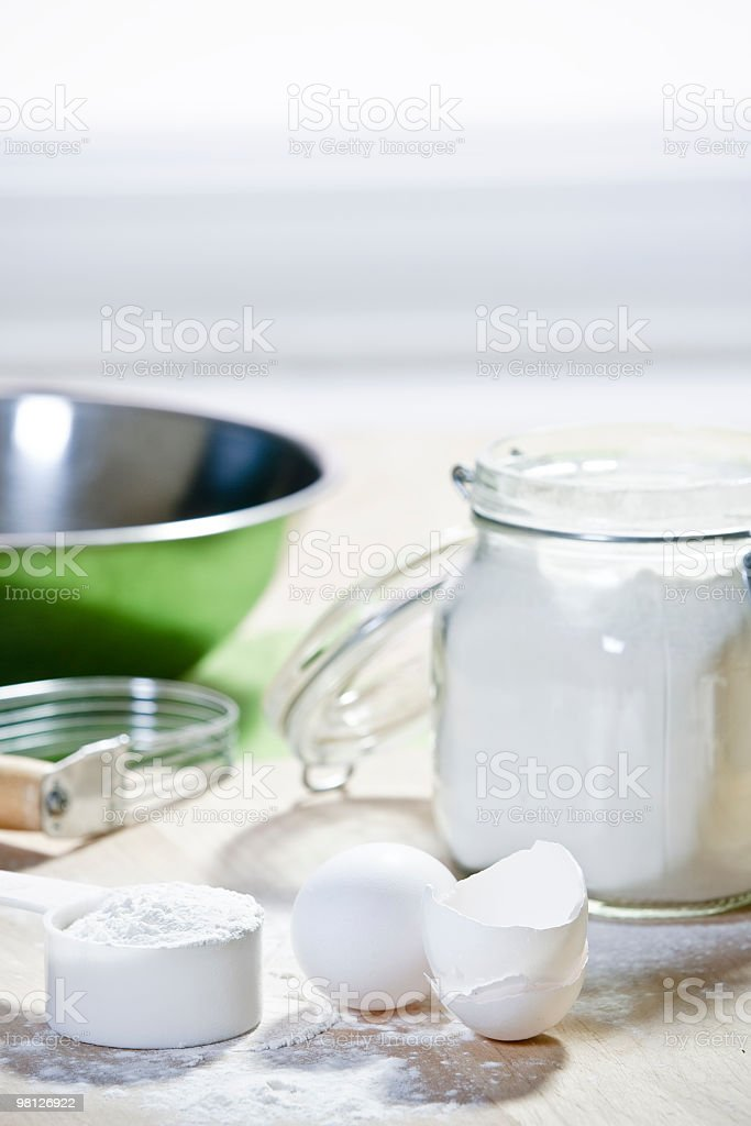 Ingredients for bakery royalty-free stock photo
