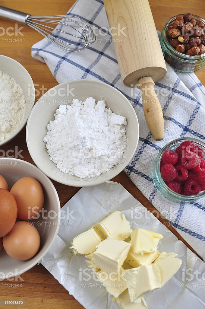 Ingredients for baking a cake royalty-free stock photo