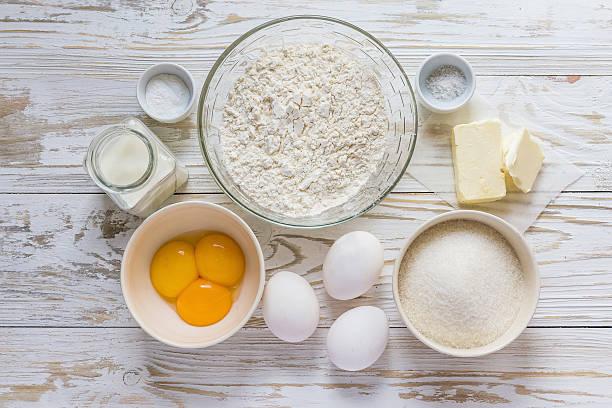 ingredienti per la cottura cupcakes - ingrediente foto e immagini stock