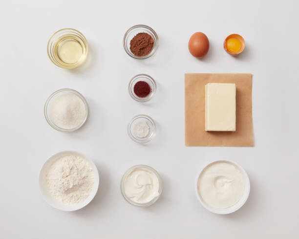 Ingredients for baking or cooking stock photo