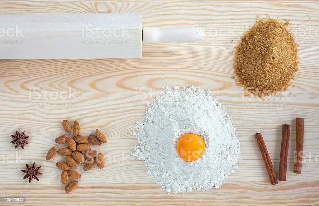 Ingredients for baking royalty-free stock photo