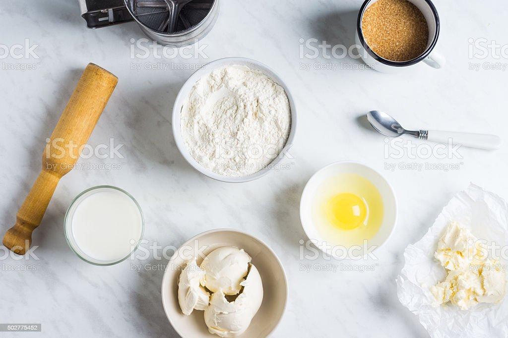 Ingredientes para assar - foto de acervo