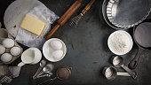 食材を焼く pie.、コピースペース付き