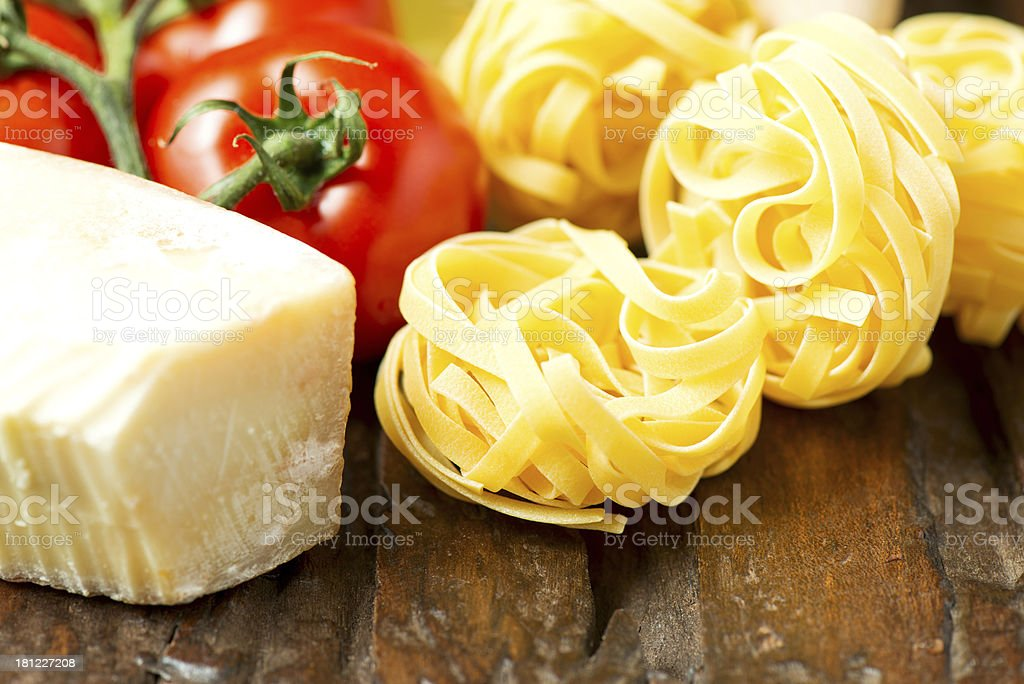 Ingredients for cooking pasta royalty-free stock photo
