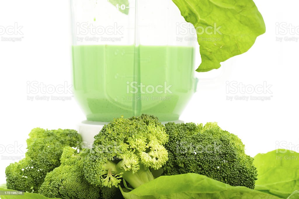 Ingredients for green smoothie royalty-free stock photo