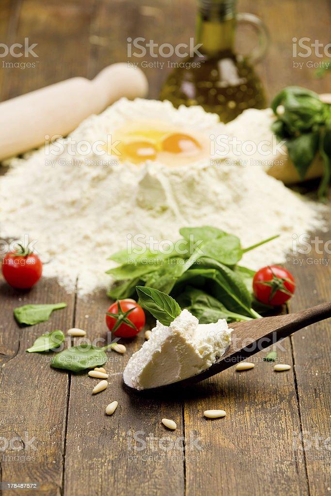 Ingredients for Homemade Ravioli royalty-free stock photo
