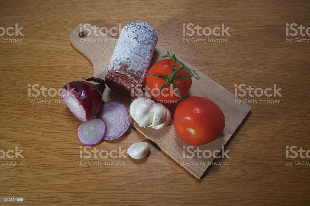 ingredients for italian food like pasta stock photo