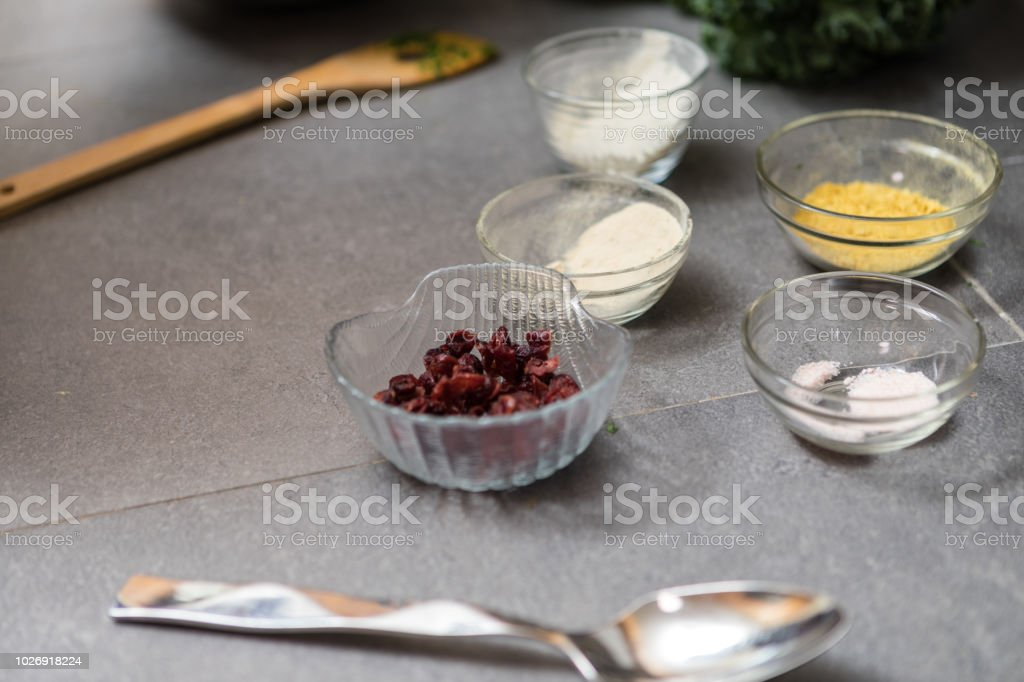 ingredients for kale salad royalty-free stock photo