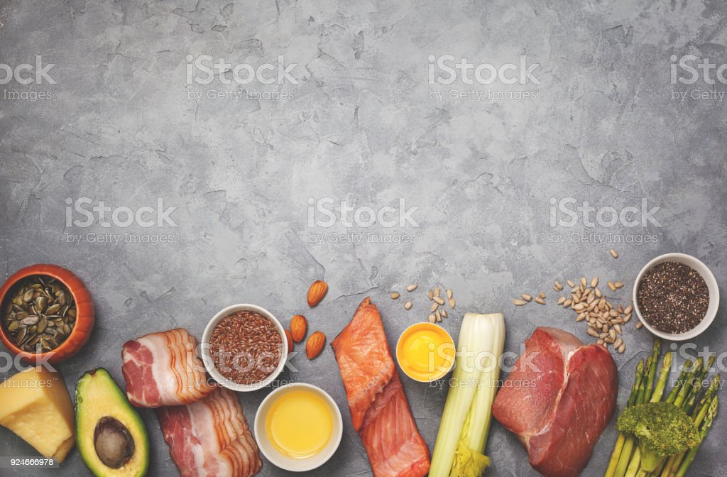 Ingredients for ketogenic diet royalty-free stock photo