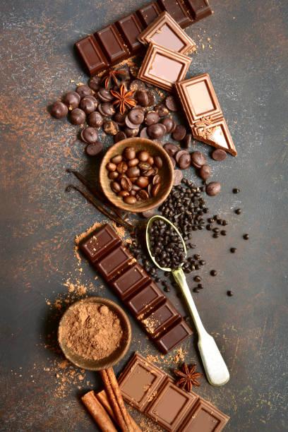 Zutaten für die Herstellung von Schokolade Kuchen oder Süßigkeiten – Foto
