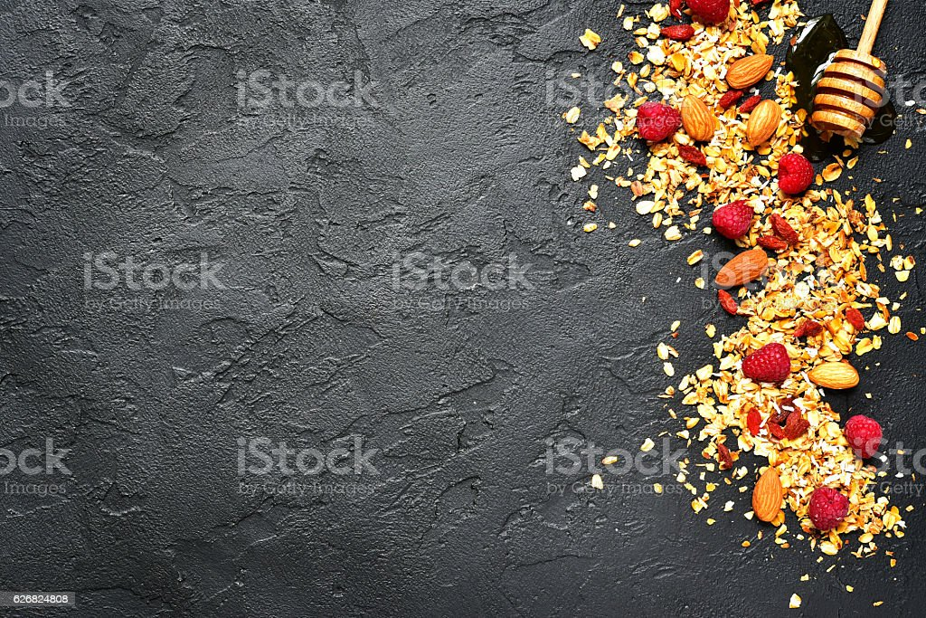 Ingredients for making healthy diet breakfast. stock photo