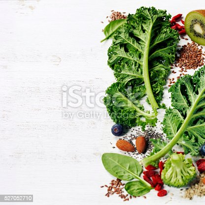 istock Ingredients for making healthy green smoothie or salad 527052710
