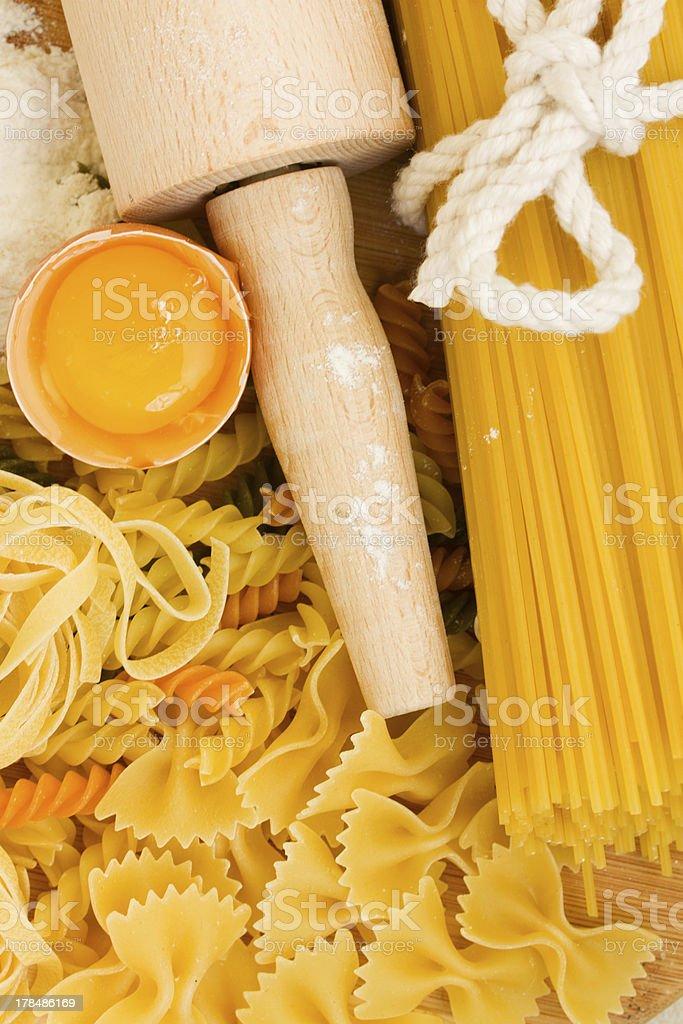 Ingredients for making pasta royalty-free stock photo