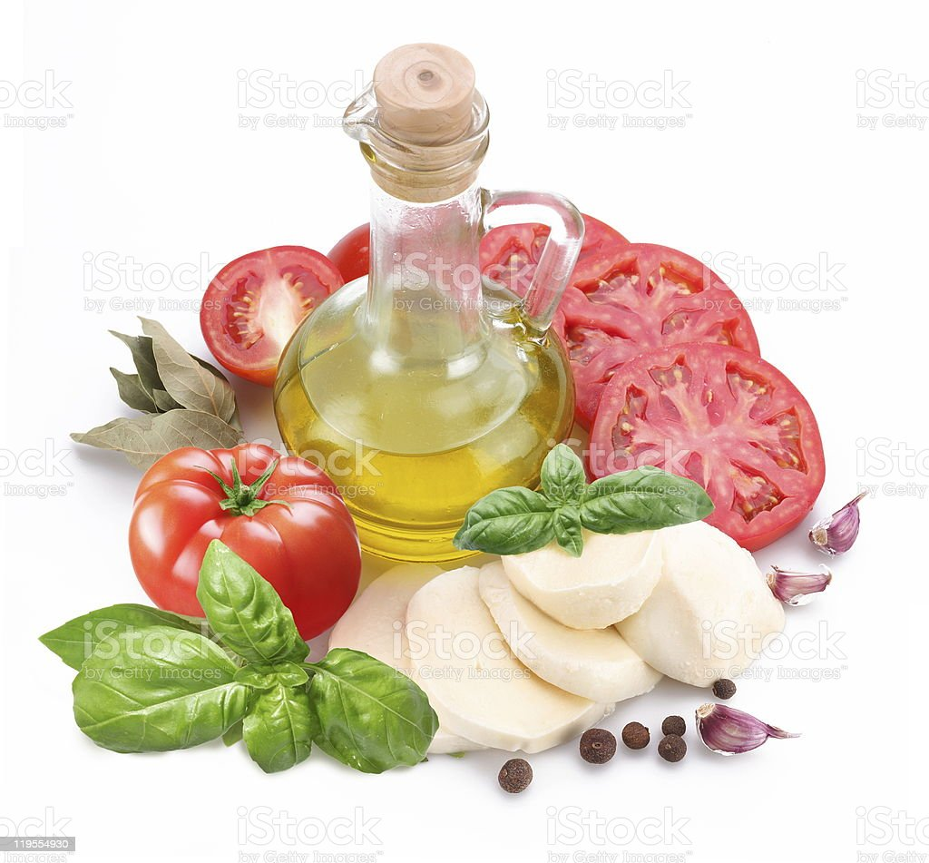 Ingredients for making salad. royalty-free stock photo