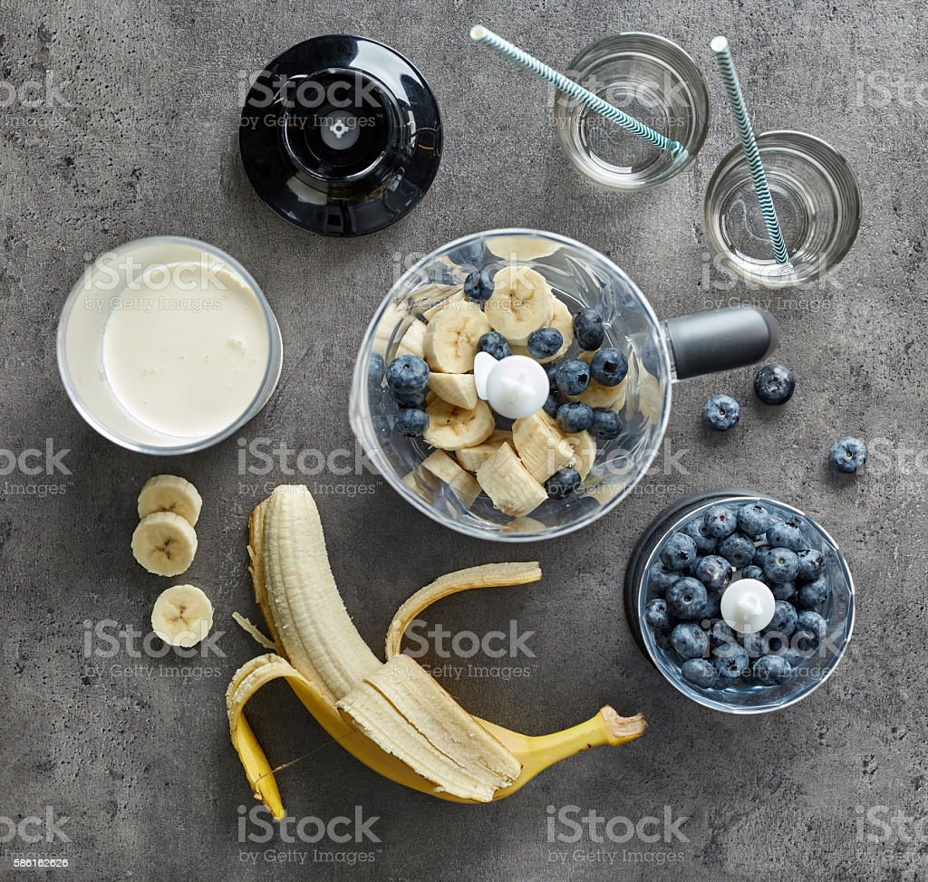 ingredients for making smoothie stock photo