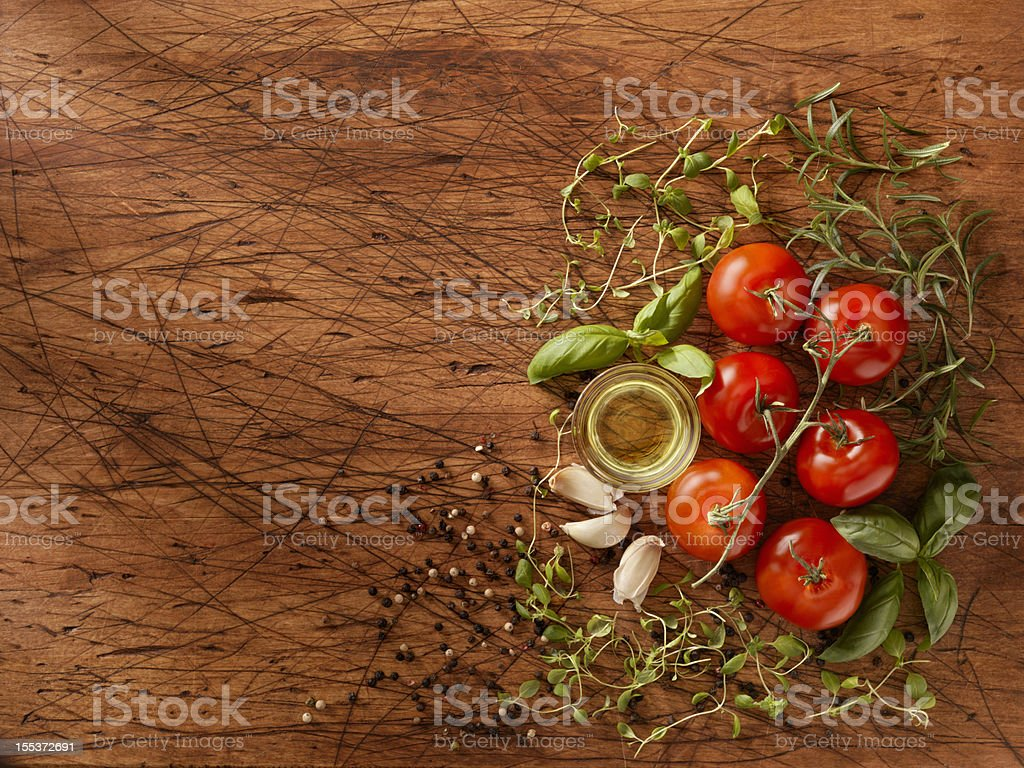 Ingredients for Making Spaghetti Sauce royalty-free stock photo
