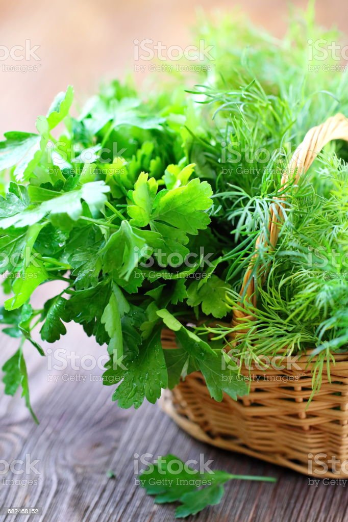 Ingredients for salad. Fresh greens royalty-free stock photo