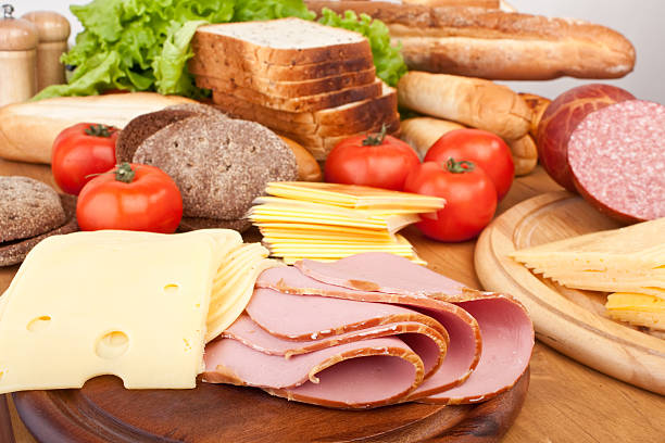 ingredients for sandviches stock photo
