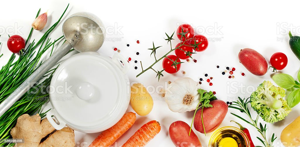Ingredients for soup stock photo