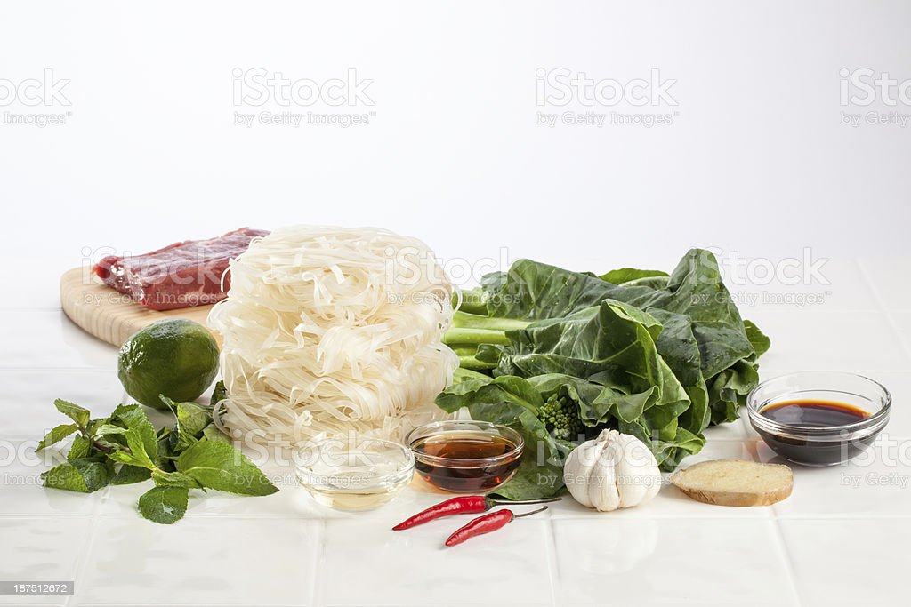Ingredients for Thai Stir Fry stock photo