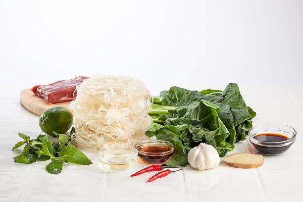 Ingredients for Thai Stir Fry stock photo