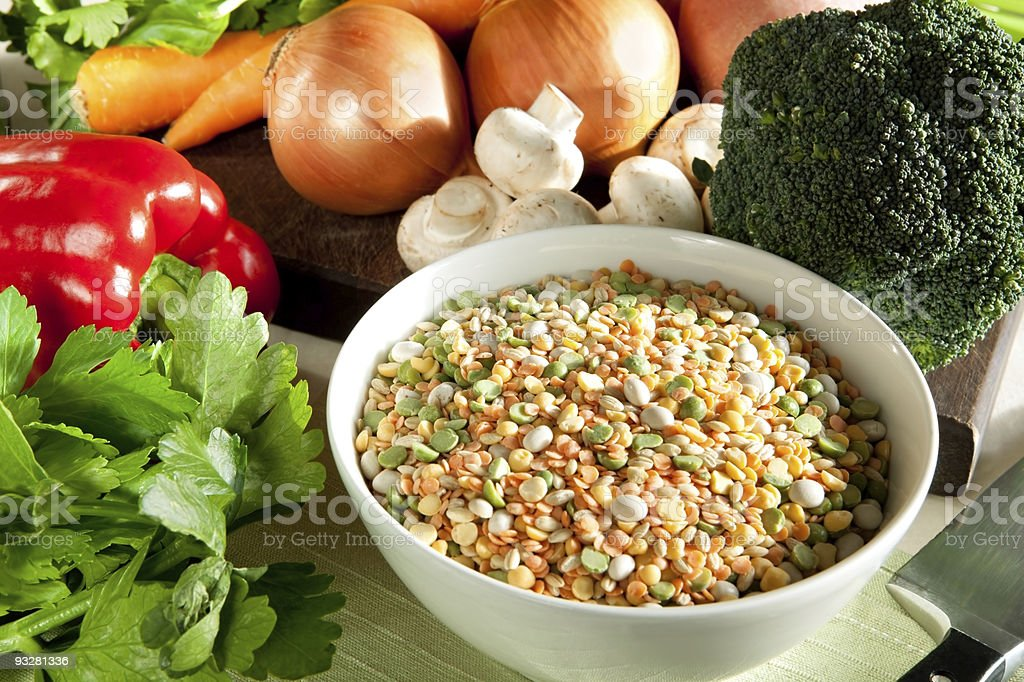 Ingredients for Vegetable Soup royalty-free stock photo