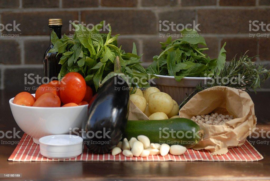 ingredients for vegetarian and vegan dish royalty-free stock photo