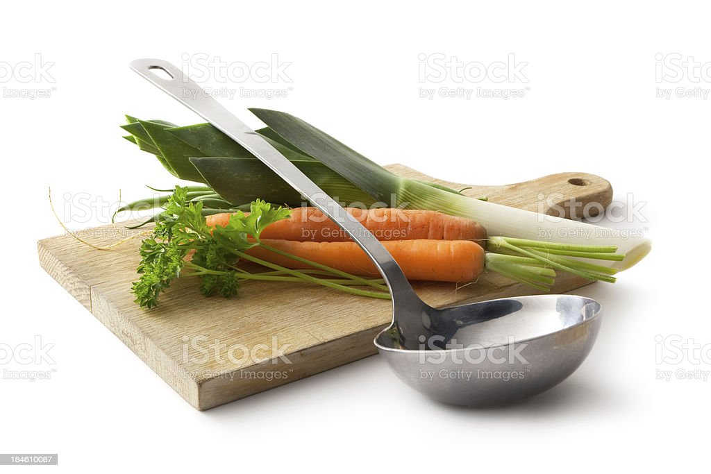 Ingredients: Leek, Carrot and Parsley royalty-free stock photo