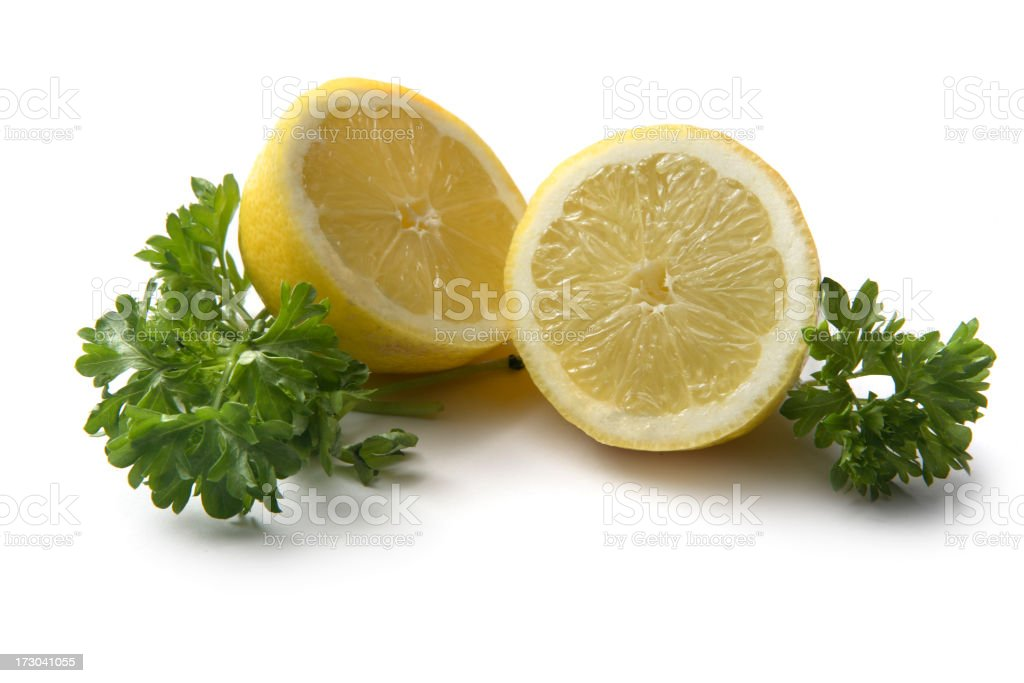 Ingredients: Lemon and Parsley royalty-free stock photo