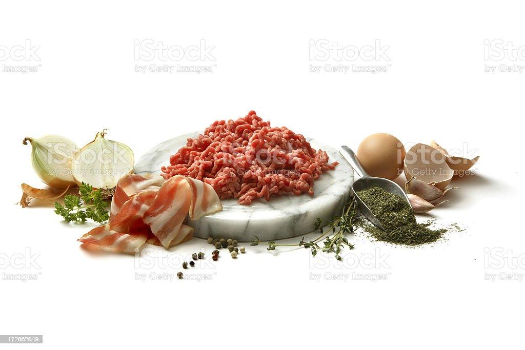 Ingredients: Meatballs royalty-free stock photo