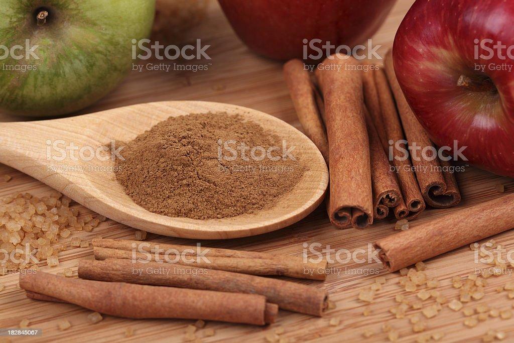 Ingredients of apple pie royalty-free stock photo