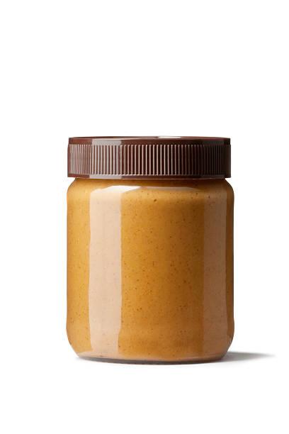 ingredients: peanut butter - pindakaas stockfoto's en -beelden