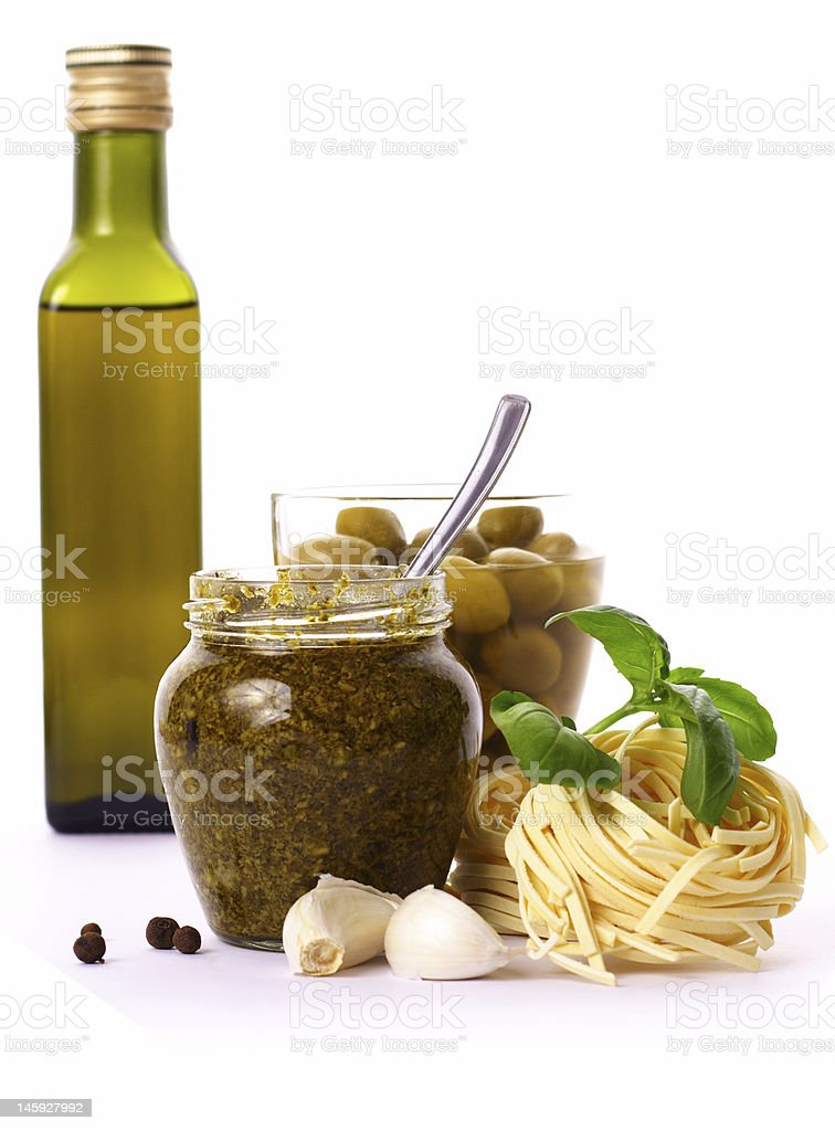 ingredients - pesto royalty-free stock photo