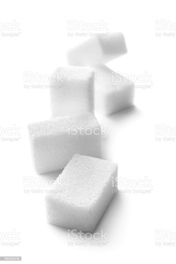 Ingredients: Sugar Cubes stock photo