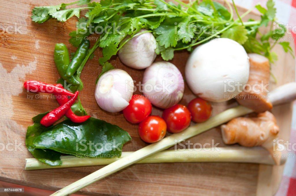 Ingredients Tom Yum soup stock photo