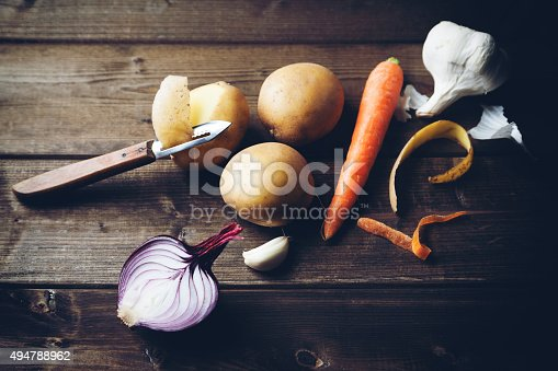 istock ingredients with potato carrot onion and garlic 494788962