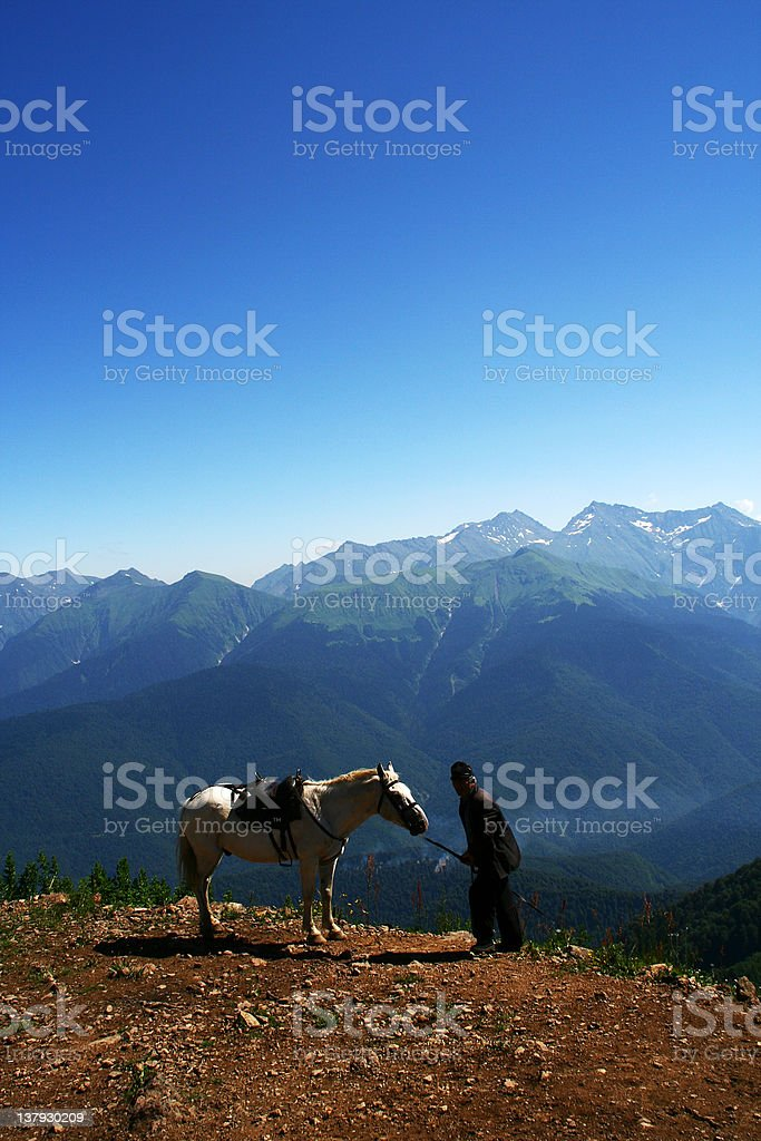 inhabitants of the mountains royalty-free stock photo