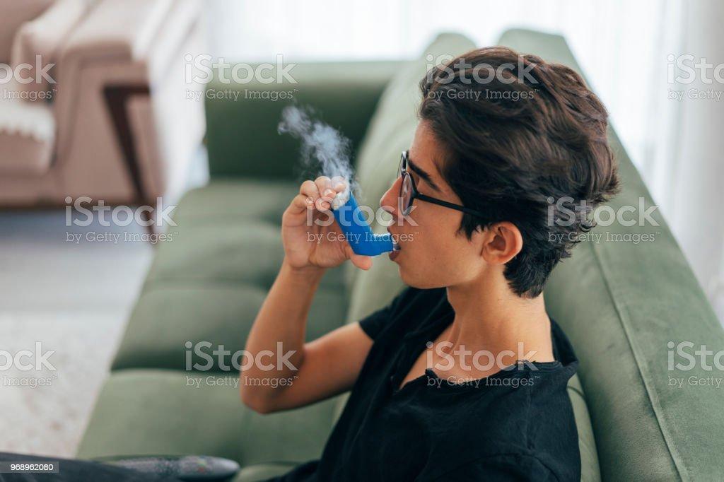 Inhalating zu Hause – Foto