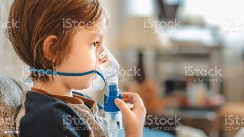 inhalation stock photo