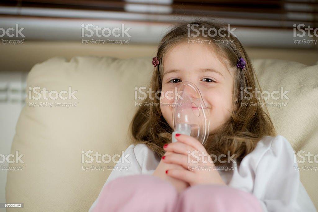 Inhalation royalty-free stock photo